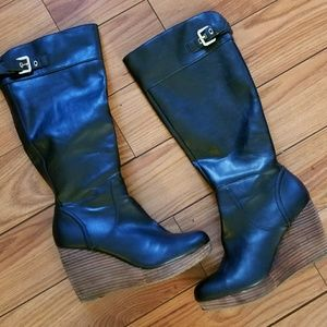 """Dr. Scholl's 8M 3"""" Wedge Knee High Boots"""